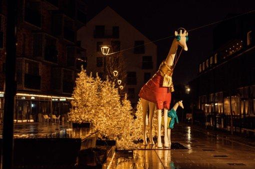 """Kalėdoms pasipuošė ir """"Paupys"""": akį traukia neįprastos dekoracijos"""