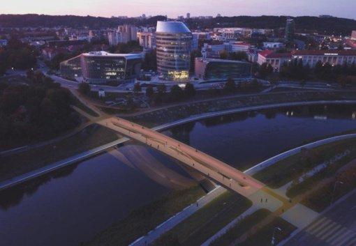 Pritarta naujo pėsčiųjų tilto Vilniuje projektui