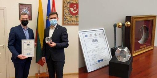 Tauragės rajono savivaldybei – apdovanojimas už nepriekaištingą valdymą