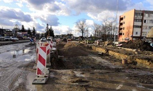 Kretingoje rekonstruojama Melioratorių–Vytauto gatvių sankryža