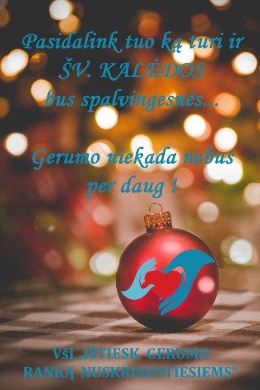 """Labdaros akcija """"Su Kalėdų dvasia dovanokim vaikams gėrį ir šypsenas"""""""