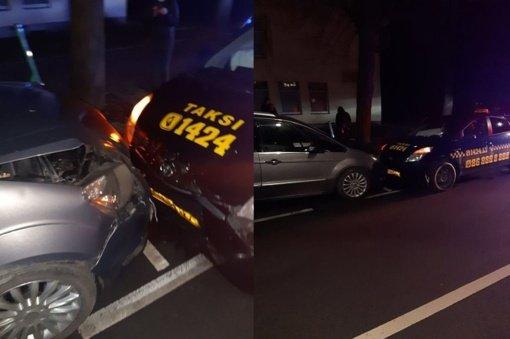 Taksi vairuotojas be teisių sukėlė avariją: kilo įtarimai dėl narkotinių medžiagų