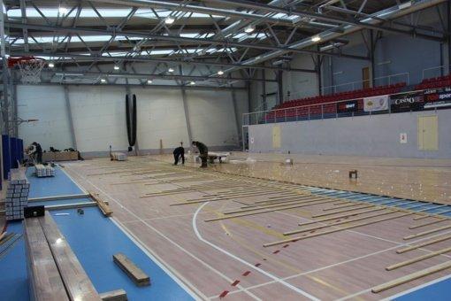 Ignalinos sporto ir pramogų centre – remontai