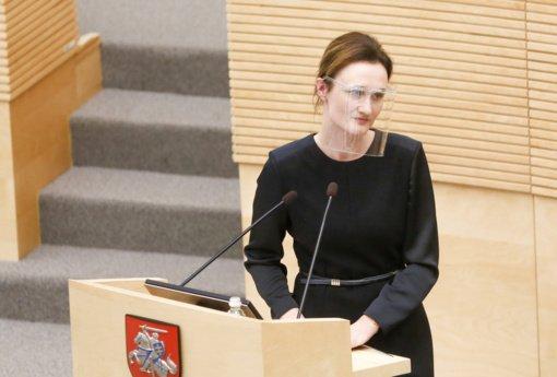 V. Čmilytė-Nielsen tikisi, kad Seimas dar rudens sesijoje galės posėdžiauti nuotoliniu būdu
