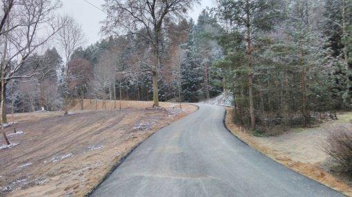 Baigti kelio Česukų kaime kapitalinio remonto darbai