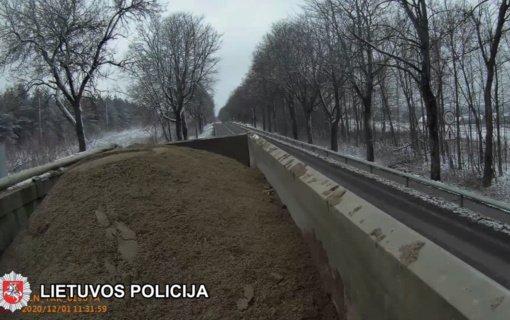 Trakų rajone nustatyti krovinių vežimo reikalavimų pažeidimai