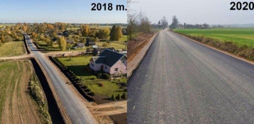 Išasfaltuotas Burniškių kelias