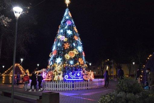 Biržuose įžiebta Kalėdų eglė!