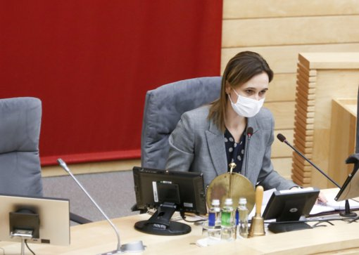 Seimo pirmininkė: darbo pradžia nebuvo lengva, darbotvarkę diktuoja pandemija