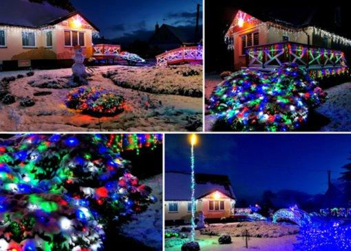 Kalėdų kiemo ir vitrinos konkurso laimėtojai – kurmaitiškiai ir darbėniškiai