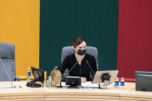 V. Čmilytė-Nielsen drąsina kolegas prieš būsimus nuotolinius posėdžius