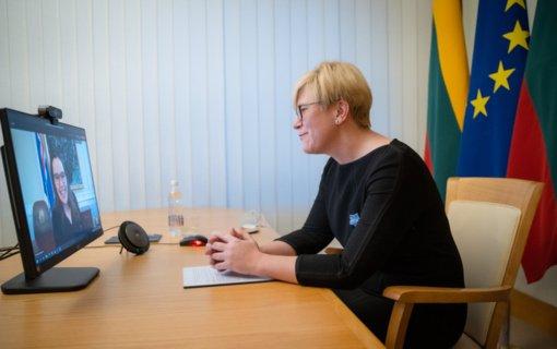 Lietuvos ir Islandijos premjerės aptarė šalių bendradarbiavimo perspektyvas