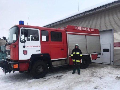 Darbus pradėjo Gudienos ugniagesių komanda
