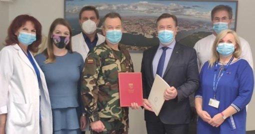 Respublikinės Klaipėdos ligoninės medikams talkina šauliai savanoriai