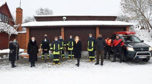Trakų rajono ugniagesiai įgijo naują įrangą ir aprangą