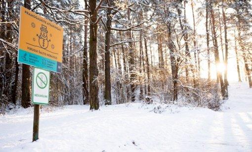 Kaunas imasi netradicinio ženklinimo: žiemos pramogų erdvėse – svarbūs įspėjimai