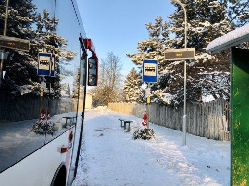 Kauno rajono viešojo transporto stotelėse – moderni informavimo sistema