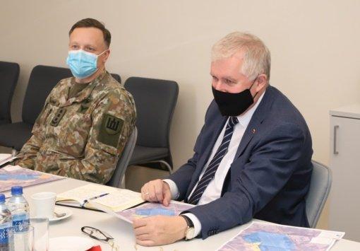 Šiauliuose lankėsi krašto apsaugos ministras A. Anušauskas