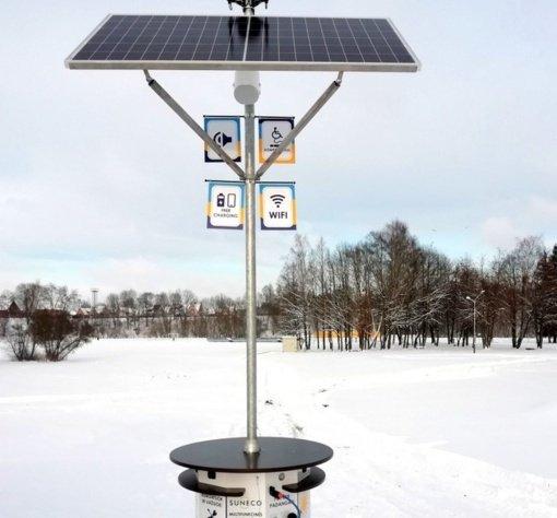 """Kelmės """"Draugystės"""" parke įrengta daugiafunkcė paslaugų stotelė"""