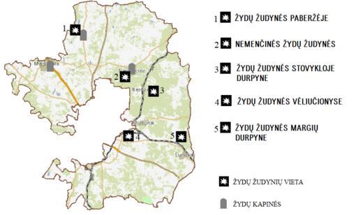 Parengtas Holokausto aukų vietų žemėlapis Vilniaus rajone