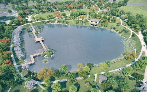 Pradedamas pirmasis Vilniaus japoniško sodo kūrimo etapas
