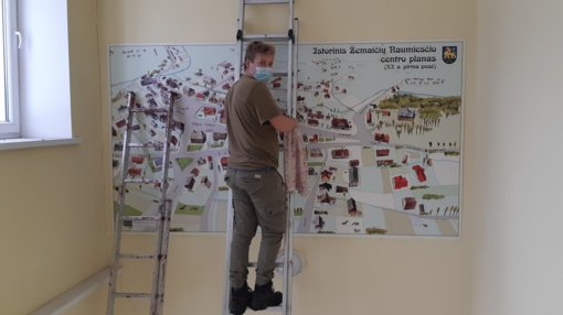 Istorinis Žemaičių Naumiesčio planas puoš muziejaus laiptinę