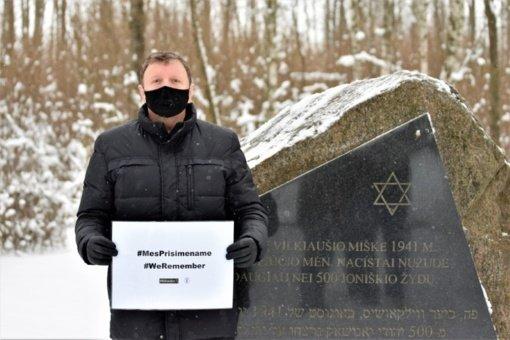 Joniškyje paminėta Tarptautinė Holokausto aukų atminimo diena