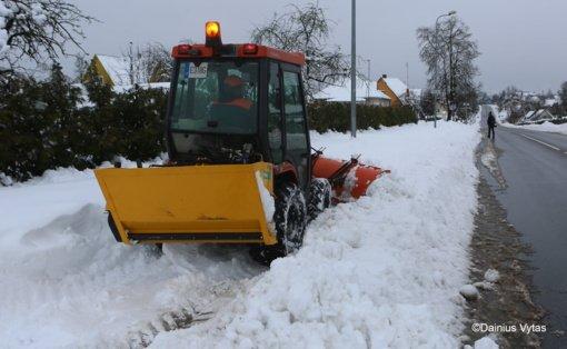 Ukmergės rajonas vaduojasi iš sniego