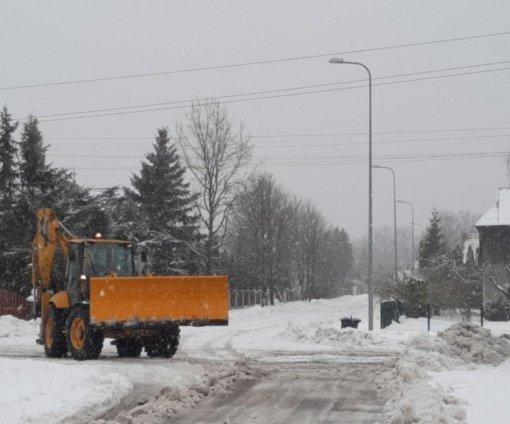 Seniūnai aptarė didžiausią nerimą keliančias problemas dėl gausaus snygio Varėnos rajone