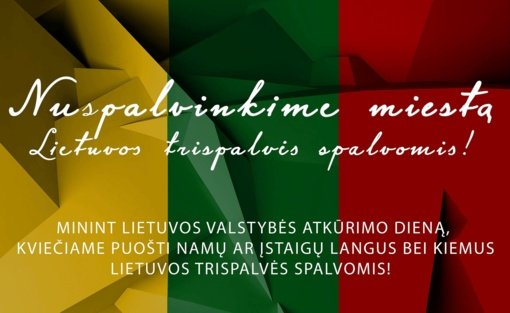 Lietuvos valstybės atkūrimo dienai skirti renginiai Lentvaryje