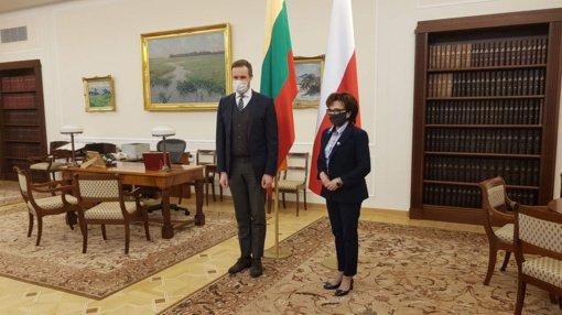 G. Landsbergis Lenkijoje susitiko su Seimo maršalka ir diplomatijos vadovu