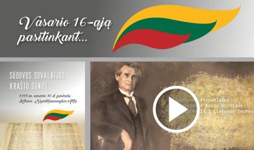 Vasario 16-ąją pasitinkant: LR prezidento Kazio Griniaus sveikinimas ir kitos įdomybės