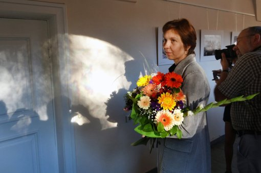 Dusetiškei menininkei Vilijai Visockienei įteikta savivaldybės premija