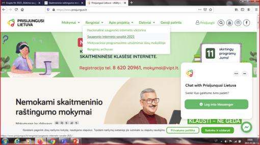 """Virtuali """"Saugesnio interneto savaitė 2021"""" Trakų viešojoje bibliotekoje"""