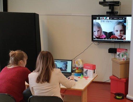 Mažieji Trakų gyventojai išbandė edukacinius 3D užsiėmimus