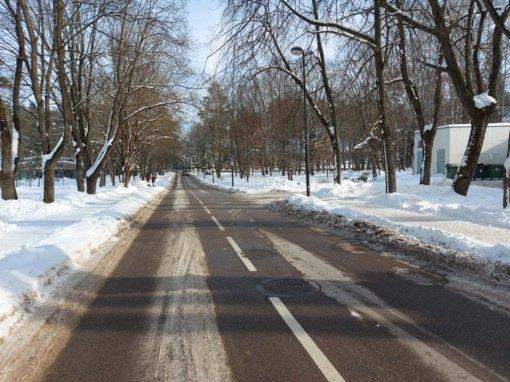 Sniego valymo darbai Birštone tęsiami