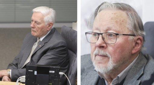 Santaros klinikose pradėti skiepyti Šeimos medicinos centro senjorai, tarp jų – V. ir A. Adamkai, V. Landsbergis