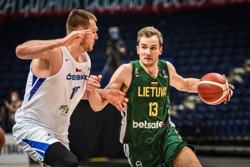 Lietuvos rinktinė užtikrintai laimėjo rungtynes su čekais