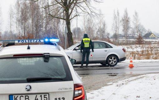 Praėjusios savaitės Klaipėdos apskrities kelių policijos priemonių rezultatai
