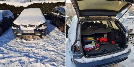 Jaunos mamos automobilį vagys aplaupė be gailesčio: skaudu ne tik jai, bet ir vaikui