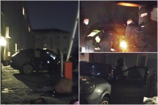 """Stambi pareigūnų operacija Savanorių prospekte: sulaikytas išskirtiniu """"Porsche"""" atvykęs vyras"""