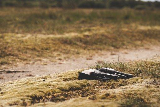 Jonavos rajone, šalikelėje, rastas pistoletas