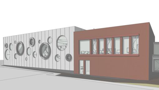 Lentvario pradinės mokyklos sporto salei – išskirtiniai architektūros sprendimai