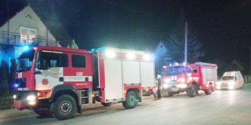 A. Kanapinsko gatvės name kilo gaisras