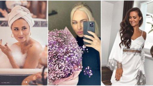 Žinomų moterų kovo 8-oji: gėlės, fotosesija vonioje ir laikas sau