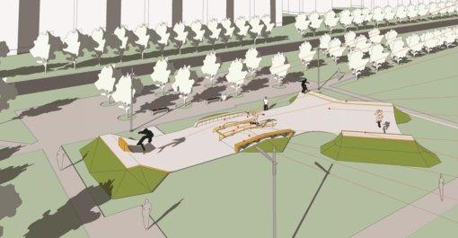 Riedučių, BMX dviračių, riedlenčių parko statyba Mažeikiuose – projektinių sprendinių pristatymas