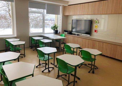Rukainių gimnazijos bendruomenė džiaugiasi atnaujintomis edukacinėmis erdvėmis