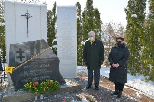 Biržiečiai pagerbė kovotojus už Lietuvos nepriklausomybę