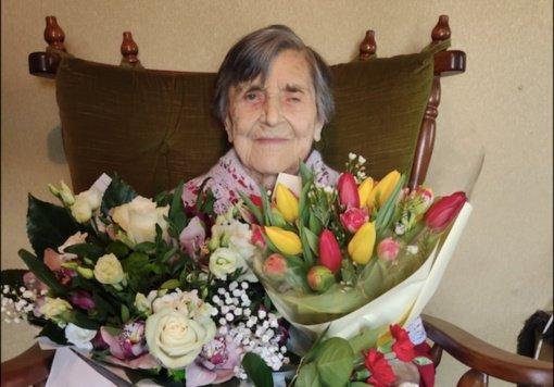 Pasveikinta Biržų rajone gyvenanti šimtametė