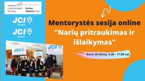 JCI kviečia jaunuosius lyderius į pirmąją mentorystės sesiją